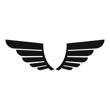 Insignia wings icon, simple style