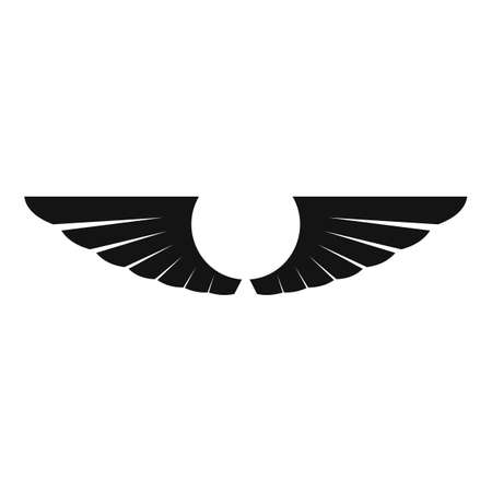 Element wings icon, simple style