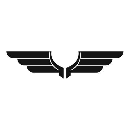 Freedom wings icon, simple style Archivio Fotografico - 155432539