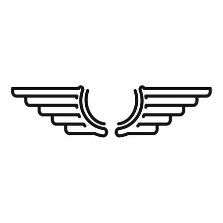 Wings icon, outline style
