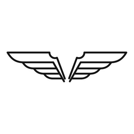 Wings fly icon, outline style