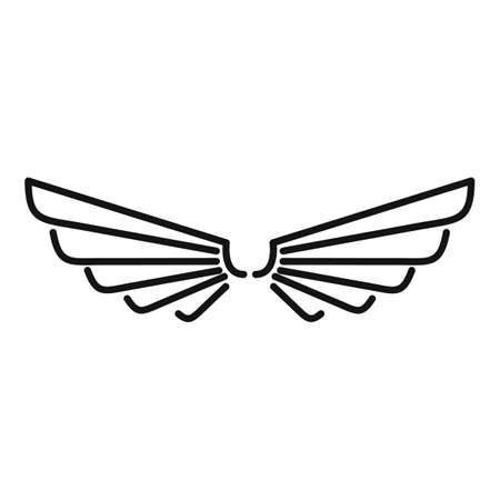 Cute wings icon, outline style