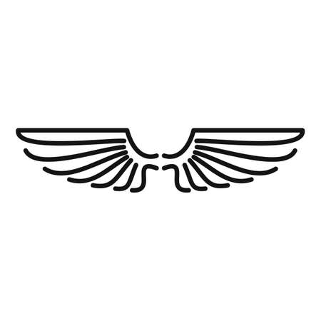 Wings animal icon, outline style