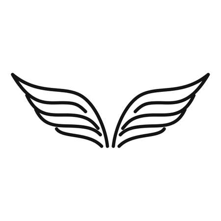 Fairy wings icon, outline style Vettoriali