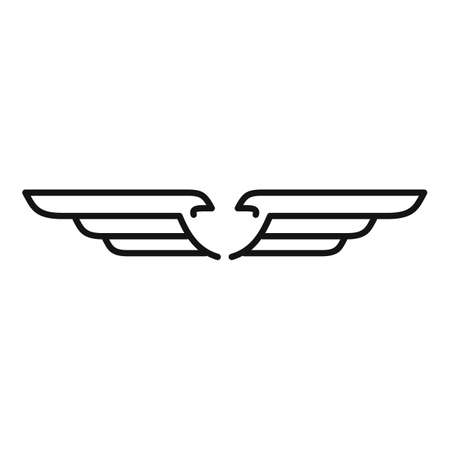 Heaven wings icon, outline style