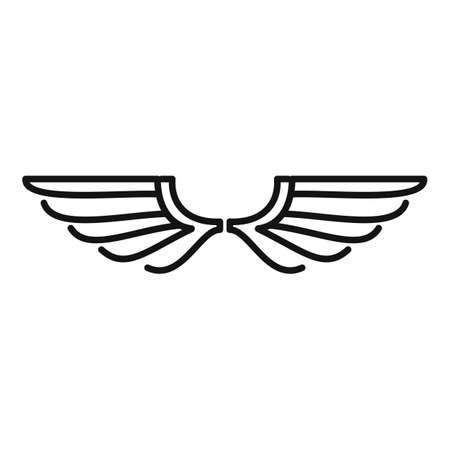 Falcon wings icon, outline style Vettoriali
