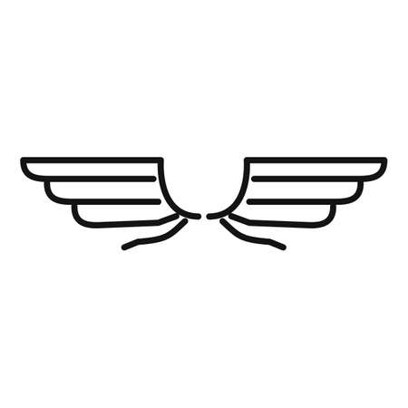 Eagle wings icon, outline style Vettoriali