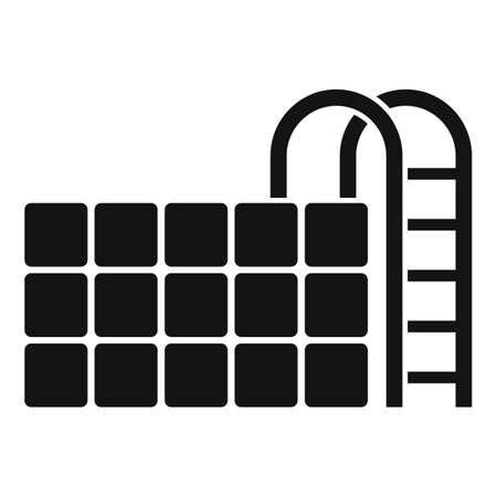 Sauna pool icon, simple style
