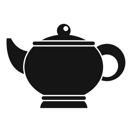 Sauna tea pot icon, simple style