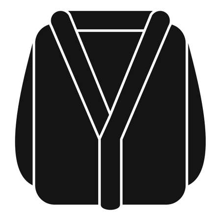 Sauna bathrobe icon, simple style