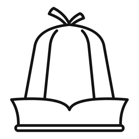 Sauna headwear icon, outline style