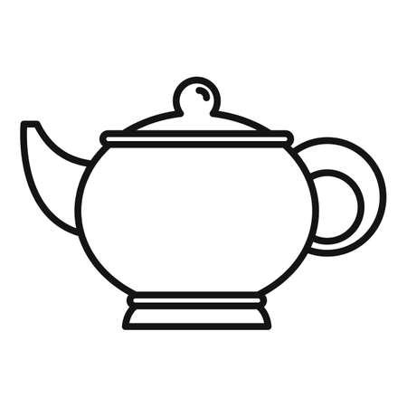 Sauna tea pot icon, outline style