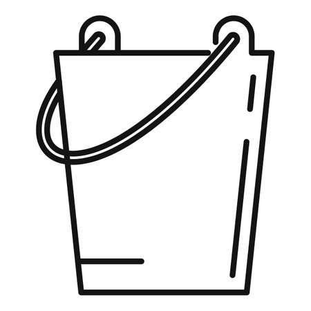 Sauna steel bucket icon, outline style Vector Illustratie