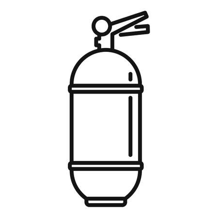 Fire extinguisher water icon, outline style