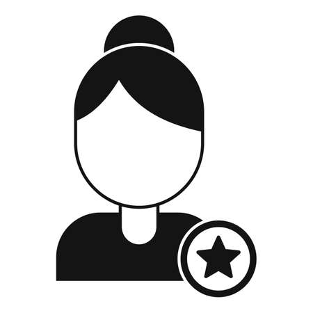 Woman reputation icon, simple style