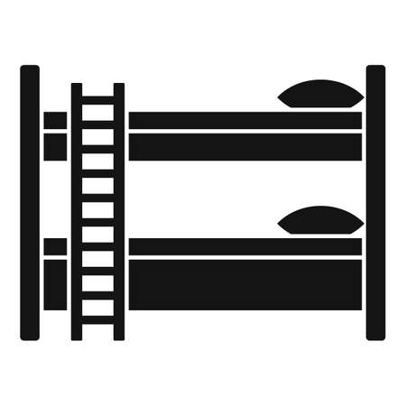 Bunk bed icon, simple style