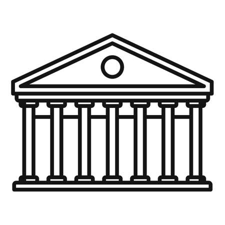 Column theater icon, outline style
