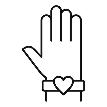 Love bracelet affection icon, outline style