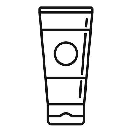 Tattoo cream tube icon, outline style