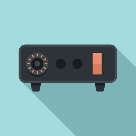 Tattoo device machine icon, flat style