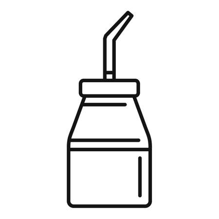 Tattoo paint bottle icon, outline style