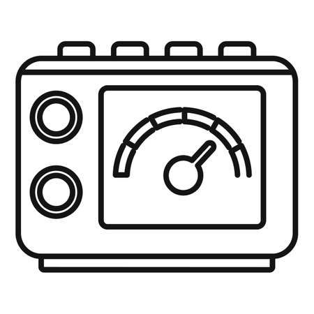 Tattoo device icon, outline style