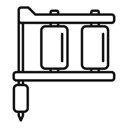 Tattoo steel machine icon, outline style