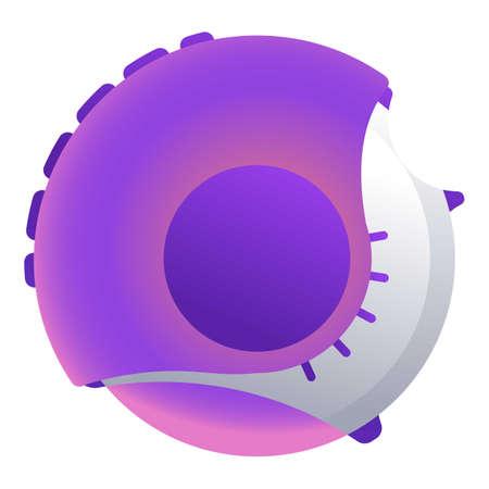 Round inhaler icon, cartoon style