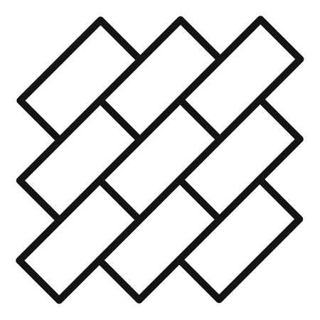 Street line paving icon, outline style Illusztráció