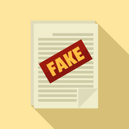 Fake news papers icon, flat style Ilustracja