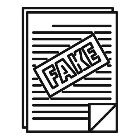 Fake news papers icon, outline style