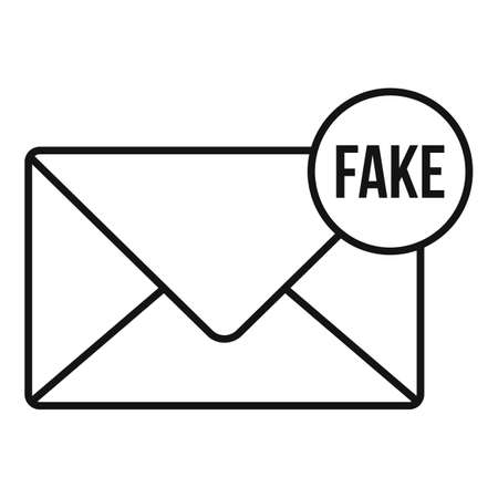 Fake mail news icon, outline style