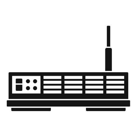 Signal satellite icon, simple style 矢量图像