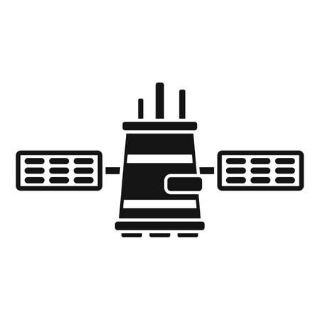 Network satellite icon, simple style