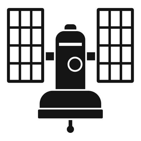 Connection satellite icon, simple style 矢量图像