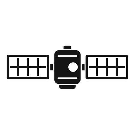 Technology satellite icon, simple style
