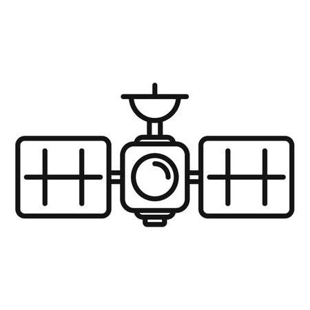 Space satellite icon, outline style