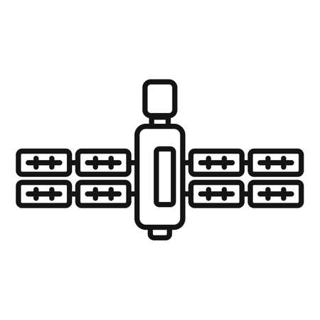 Dish satellite icon, outline style 矢量图像