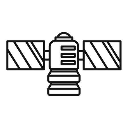 Radio satellite icon, outline style