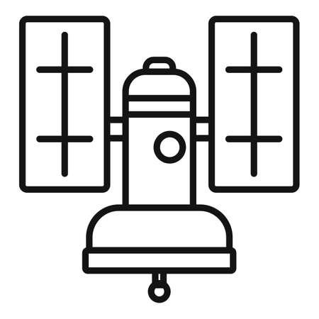 Orbit satellite icon, outline style
