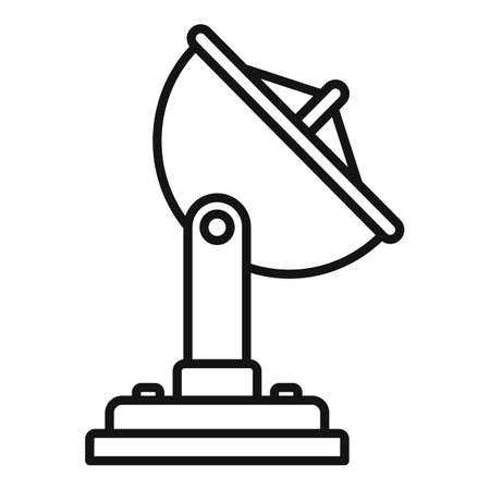 Map satellite icon, outline style 矢量图像