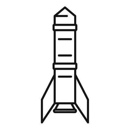 Phone satellite icon, outline style
