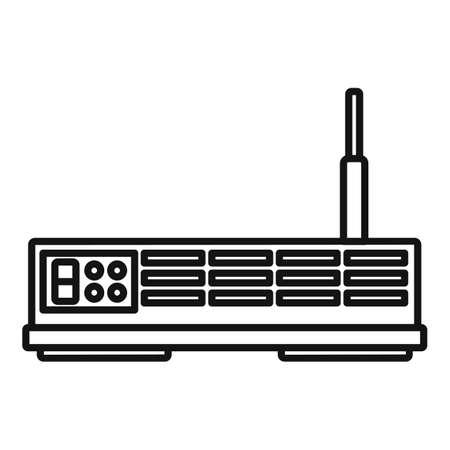 Modern satellite icon, outline style