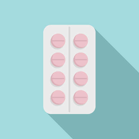 Pill pharmacy icon. Flat illustration of pill pharmacy vector icon for web design