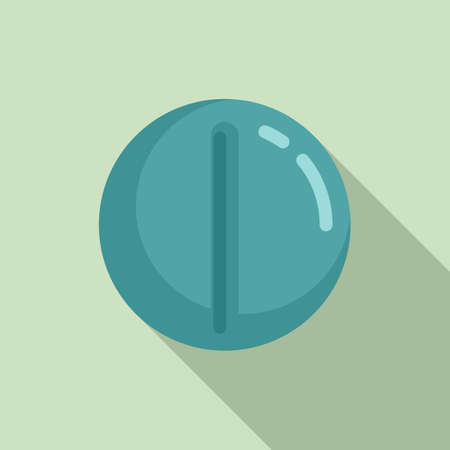 Round pill icon, flat style