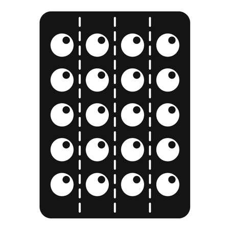 Pill drug icon, simple style Illustration