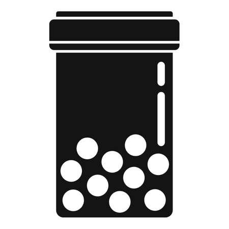 Pill jar icon, simple style 矢量图像