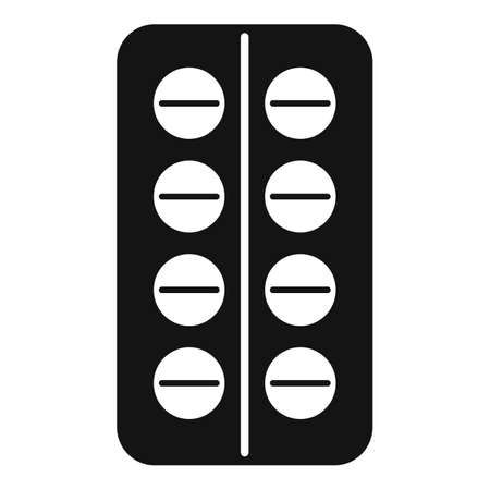 Pill pharmacy icon, simple style Ilustrace