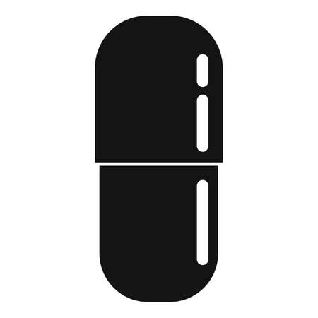 Prescription pill icon, simple style Ilustrace