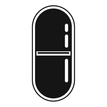 Antibiotic pill icon, simple style